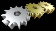 Conceptual 3D animated gears video