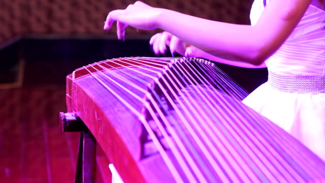 Concert, Actress play the zither. video
