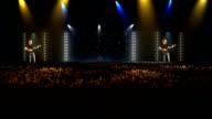 Concert arena and big crowd video