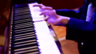 Concert, children play the piano. video