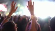 Concert crowd, 4k video