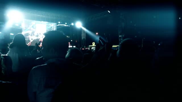 Concert crowd applauding video