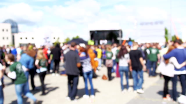 Concert Crowd blured video