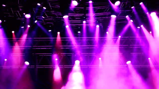 Concert lights video