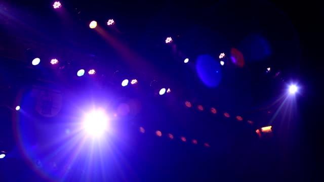 concert stage lights video