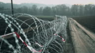 DS Concertina wire placed on the field video