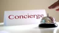 Concierge desk call bell video