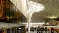 Concourse at King's Cross rail station, London. video