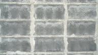 Concrete block wall. video
