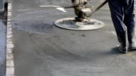 Concrete polishing machine video