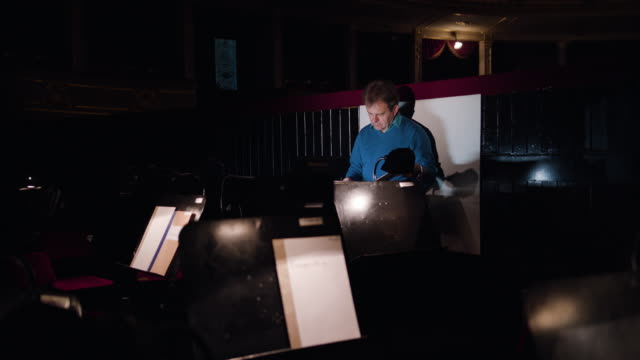 Conductor in an Orchestra Pit Studies Sheet Music video