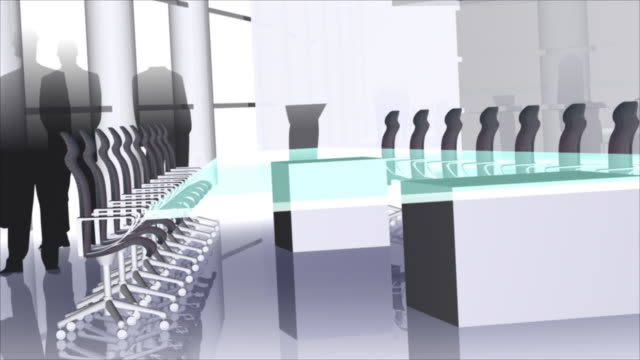 conference room with businessmen video