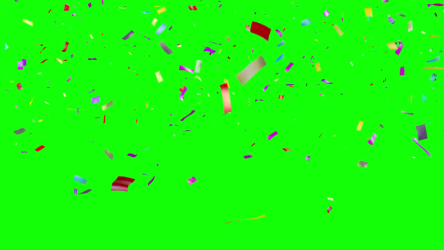 Confetti falling. Green Screen. video