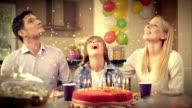SLO MO confetti falling on the birthday boy video