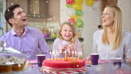 SLO MO confetti falling on the birthday girl video