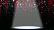 Confetti Glitter Spotlight Background Loop video