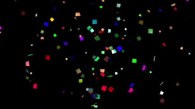 Confetti the bottom for Screen blending mode video