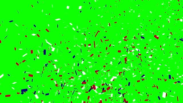 Confetti thrown into the air video