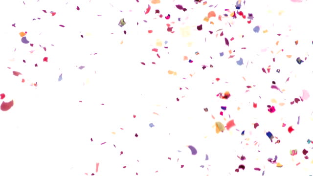 Confetti Video Background - Slow Motion video