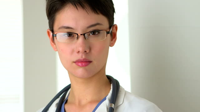 Confident Chinese woman Doctor video