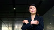 Confident Happy Successful Asian Business Woman Businesswoman Smiling At Camera video