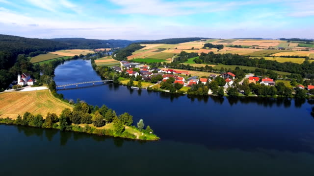 Confluence Of Danube And Naab Rivers In Bavaria video