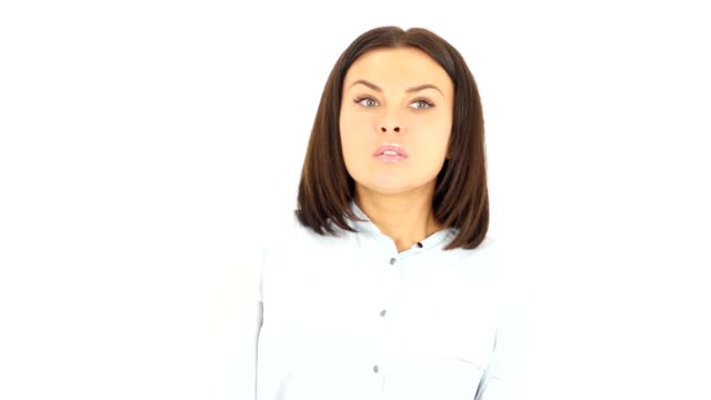 Confused Beautiful Woman Afraid video