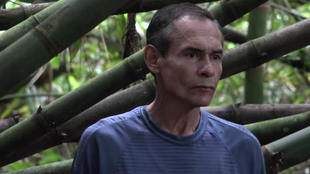 Confused Man Alone in Jungle video
