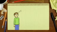 confused man cartoon character video