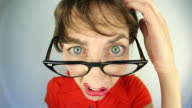 Confused Nerd Woman video