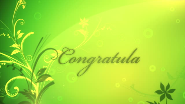 Congratulations - Loop video