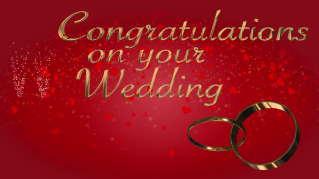 Congratulations on your wedding with two linked wedding rings loop video