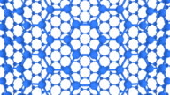 Connected Spheres Hexagon Loop Full HD 3d render video