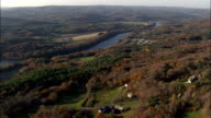 Connecticut River  - Aerial View - New Hampshire,  Cheshire County,  United States video