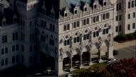 Connecticut State Capitol  - Aerial View - Connecticut,  Hartford County,  United States video