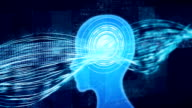 Constant flow of information through brain, artificial intelligence learning video