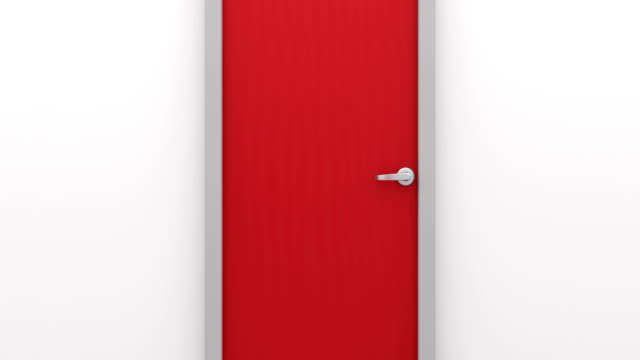 Constantly opening red door. video