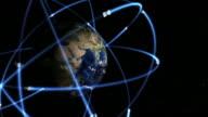 GPS constellation animation video