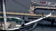 USS Constitution  - Aerial View - Massachusetts,  Suffolk County,  United States video