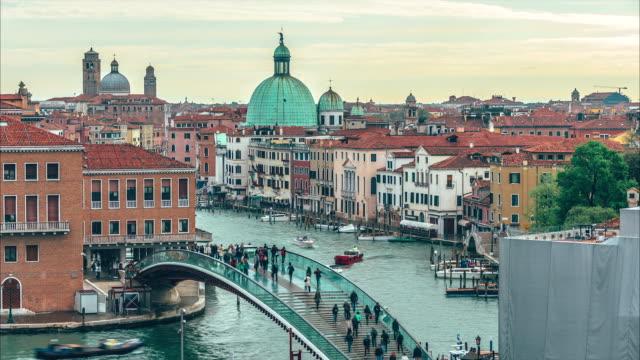 Constitution Bridge Venice, Italy. Ponte della Costituzione, Venezia. video