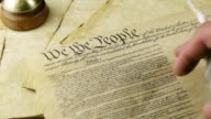 US Constitution Hand Reading (HD) video