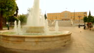 Constitution Square and parliament building in Athens, capital city of Greece video
