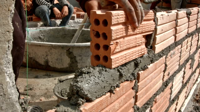 Construction Brick wall video