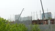 Construction building time-lapse video