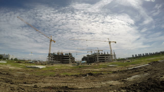 Construction buildings video