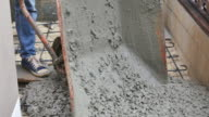 construction ,cement pouring video