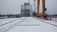 construction cranes at the Chernobyl video