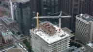 Construction cranes. Timelapse shot. video