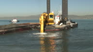 HD: Construction Digger Dredging, Digging, Scooping Mud: Wide Front Angle video