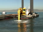 Construction Digger Dredging, Digging, Scooping Mud: Wide Front Angle video